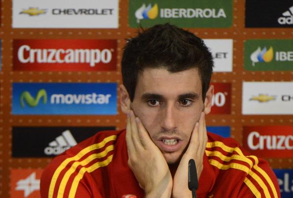 Spanish midfielder Javi Martinez gesture