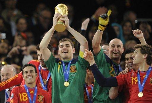 Iker Casillas Espagne Coupe du Monde Roja