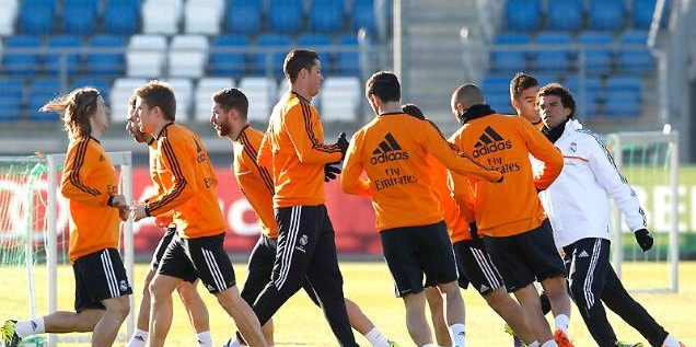 Real Madrid entrainement