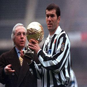 Combien de fois Zidane a-t-il été sur le Podium du Ballon d'Or ?
