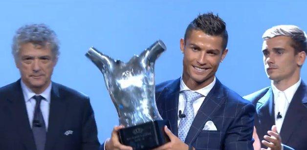 UEFA   Cristiano Ronaldo élu meilleur joueur d Europe – Foot Espagnol 28099e002fb94